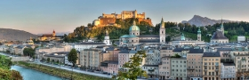 Stadt Salzburg vom Kapuzinerberg