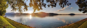 Sonnenuntergang am Attersee