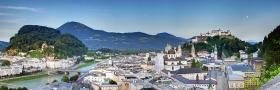 Stadt Salzburg vom Museum der Moderne