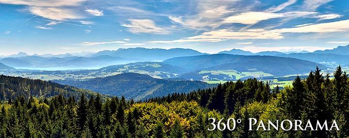 360° Panorama vom Aussichtsturm