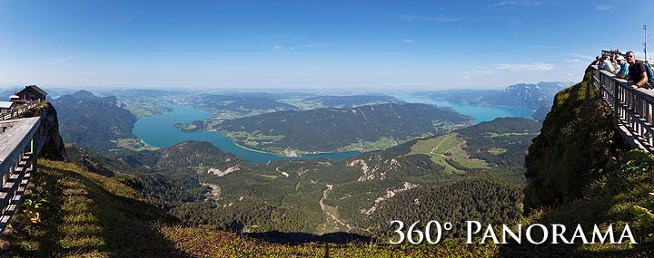 360° Panorama vom Schafberg