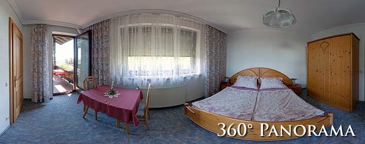 360° Panorama vom Zimmer